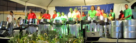 Invaders lirar steelpan