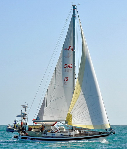 Sailing at south Cuba